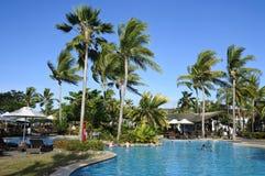 Tropical resort in Fiji Stock Images