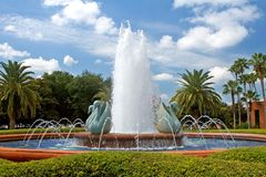 Tropical Resort Fountain Royalty Free Stock Image