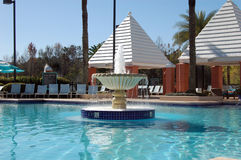 Tropical Resort Fountain Stock Photography
