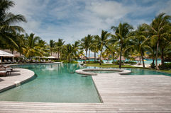 Tropical resort in French Polynesia Stock Photography