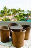 Tropical Resort Furniture Royalty Free Stock Images