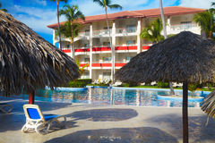 Tropical resort. Royalty Free Stock Images