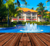 Tropical resort. Hot sunny destination for vacation Stock Photography