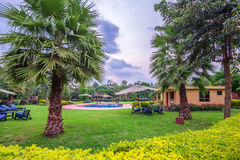 Tropical resort hotel Royalty Free Stock Photos