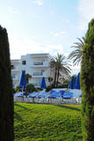 Tropical resort hotel, Cala d'Or, Mallorca Stock Image