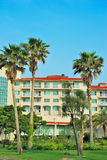Tropical resort hotels royalty free stock photography