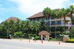 Tropical resort. The image of the tropical resort near the beach in Thailand Stock Image