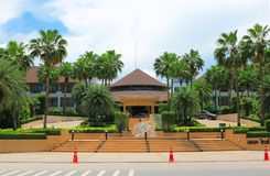 Tropical resort. The image of the tropical resort near the beach in Thailand Stock Photos
