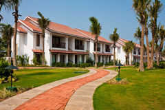 Tropical Resort in India. Temple Bay Resort in Tamil Nadu, India stock image