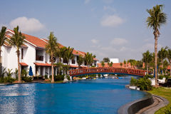 Tropical Resort in India. Temple Bay tropical resort in India Stock Image