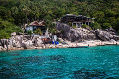 Tropical resort at Ko Tao Royalty Free Stock Photography
