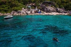 Tropical resort at Ko Tao. Thailand Stock Image