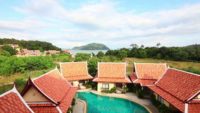 Tropical resort landscape stock video footage
