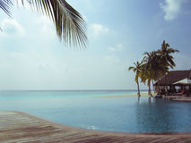 Tropical Resort in Maldives Stock Photo