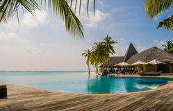 Tropical Resort in Maldives Stock Photos