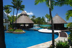 Tropical resort. Mauritius. A luxury beach resort in Mauritius Royalty Free Stock Photography