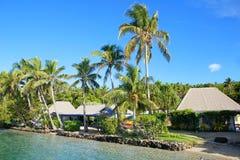 Tropical resort at Nananu-i-Ra island, Fiji. South Pacific Stock Images