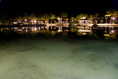 Tropical resort at night Stock Image