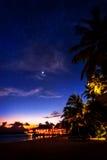 Tropical resort at night Royalty Free Stock Image