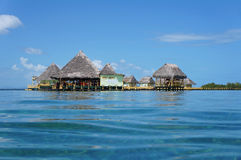 Tropical resort overwater Royalty Free Stock Photography