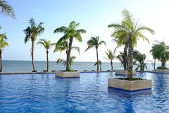 tropical resort at the Pacific Ocean Stock Photo