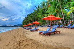 Tropical resort panoram. A in Koh Samui, Thailand Royalty Free Stock Photos