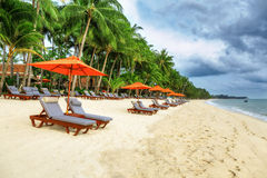 Tropical resort panoram. A in Koh Samui, Thailand Royalty Free Stock Photo