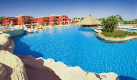Tropical resort panoramic. Tropical resort with panoramic views of the hotel Royalty Free Stock Images