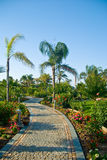 Tropical resort park Royalty Free Stock Image