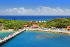 Tropical resort with pier Stock Images