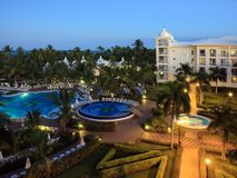 Tropical resort with pool Stock Images