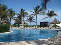 Tropical Resort Pool Stock Photography
