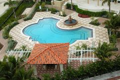 Tropical resort pool Royalty Free Stock Image