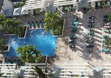 Tropical Resort Pool. Resort pool at tropical Waikiki Beach, Honolulu, Hawaii, USA Stock Images