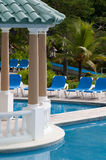 Tropical resort pool. Tropical resort with a luxury pool Stock Photo