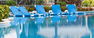 Tropical resort pool. Tropical resort with a luxury pool Stock Images
