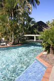 Tropical Resort pool, Queensland, Australia Royalty Free Stock Photography