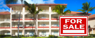 Tropical resort for sale Stock Photos