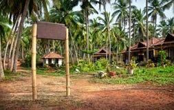 Tropical resort with signboard Stock Photos