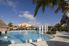 Tropical Resort swiming pool. Large swiming pool in a tropical resort Stock Image