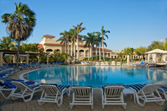 Free Tropical Resort Swimming Pool Area Stock Photography - 8484622