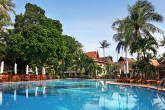 Tropical resort in thai style. Royalty Free Stock Photography