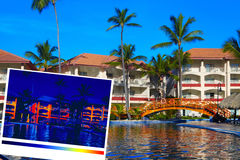 Tropical resort and thermal imaging Stock Photography