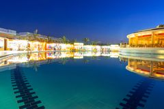 Tropical resort Three Corners Sunny Beach in Hurghada. Royalty Free Stock Photo