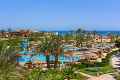 Tropical resort Three Corners Sunny Beach in Hurghada. Stock Photography