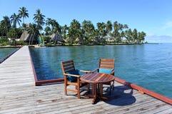 Tropical resort on Vanua Levu Island Fiji Royalty Free Stock Photos