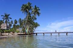 Tropical resort on Vanua Levu Island Fiji Royalty Free Stock Image