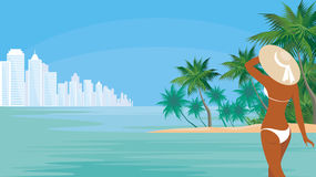 The tropical resort Royalty Free Stock Photos