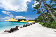 Tropical resort view Stock Photography