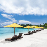 Tropical resort view Royalty Free Stock Photos